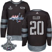 Wholesale Cheap Adidas Capitals #20 Lars Eller Black 1917-2017 100th Anniversary Stanley Cup Final Champions Stitched NHL Jersey