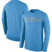 Wholesale Cheap Tennessee Titans Nike Sideline Seismic Legend Long Sleeve T-Shirt Blue