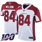 Wholesale Cheap Nike Cardinals #84 Caleb Wilson White Men's Stitched NFL 100th Season Vapor Limited Jersey