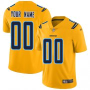 Wholesale Cheap Nike Los Angeles Chargers Customized Gold Men's Stitched NFL Limited Inverted Legend Jersey