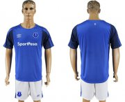 Wholesale Cheap Everton Blank Home Soccer Club Jersey