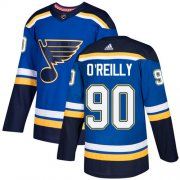 Wholesale Cheap Adidas Blues #90 Ryan O'Reilly Blue Home Authentic Stitched Youth NHL Jersey