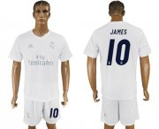 Wholesale Cheap Real Madrid #10 James Marine Environmental Protection Home Soccer Club Jersey