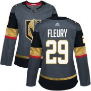 Wholesale Cheap Adidas Golden Knights #29 Marc-Andre Fleury Grey Home Authentic Women's Stitched NHL Jersey