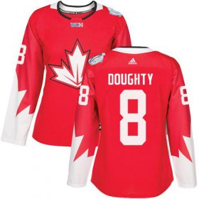 Wholesale Cheap Team Canada #8 Drew Doughty Red 2016 World Cup Women\'s Stitched NHL Jersey