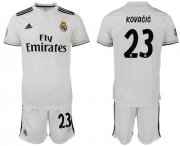 Wholesale Cheap Real Madrid #23 Kovacic White Home Soccer Club Jersey