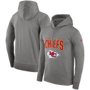Wholesale Cheap Kansas City Chiefs Nike Sideline Property of Performance Pullover Hoodie Gray