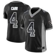 Wholesale Cheap Nike Raiders #4 Derek Carr Black Team Color Men's Stitched NFL Limited Rush Drift Fashion Jersey
