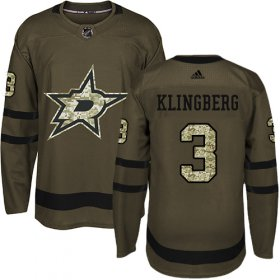 Wholesale Cheap Adidas Stars #3 John Klingberg Green Salute to Service Youth Stitched NHL Jersey