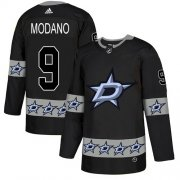 Wholesale Cheap Adidas Stars #9 Mike Modano Black Authentic Team Logo Fashion Stitched NHL Jersey