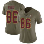 Wholesale Cheap Nike Redskins #86 Jordan Reed Olive Women's Stitched NFL Limited 2017 Salute to Service Jersey
