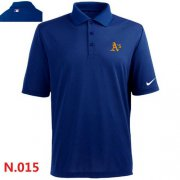 Wholesale Cheap Nike Oakland Athletics 2014 Players Performance Polo Blue