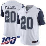 Wholesale Cheap Nike Cowboys #20 Tony Pollard White Youth Stitched NFL Limited Rush 100th Season Jersey