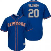 Wholesale Cheap Mets #20 Pete Alonso Blue New Cool Base Alternate Home Stitched MLB Jersey