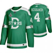 Wholesale Cheap Adidas Dallas Stars #4 Miro Heiskanen Men's Green 2020 Stanley Cup Final Stitched Classic Retro NHL Jersey