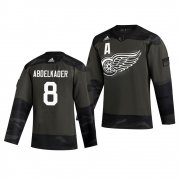 Wholesale Cheap Detroit Red Wings #8 Justin Abdelkader Adidas 2019 Veterans Day Men's Authentic Practice NHL Jersey Camo