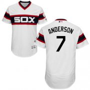 Wholesale Cheap White Sox #7 Tim Anderson White Flexbase Authentic Collection Alternate Home Stitched MLB Jersey