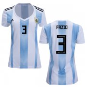 Wholesale Cheap Women's Argentina #3 Fazio Home Soccer Country Jersey