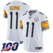Wholesale Cheap Nike Steelers #11 Chase Claypool White Youth Stitched NFL 100th Season Vapor Untouchable Limited Jersey