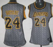 Wholesale Cheap Los Angeles Lakers #24 Kobe Bryant Gray Static Fashion Womens Jersey