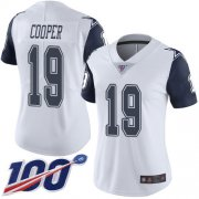Wholesale Cheap Nike Cowboys #19 Amari Cooper White Women's Stitched NFL Limited Rush 100th Season Jersey