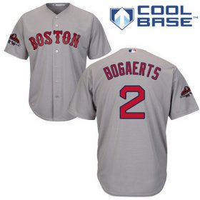 Wholesale Cheap Red Sox #2 Xander Bogaerts Grey Cool Base 2018 World Series Stitched Youth MLB Jersey
