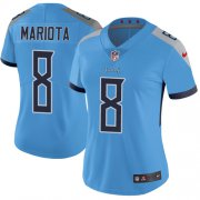 Wholesale Cheap Nike Titans #8 Marcus Mariota Light Blue Alternate Women's Stitched NFL Vapor Untouchable Limited Jersey