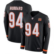 Wholesale Cheap Nike Bengals #94 Sam Hubbard Black Team Color Men's Stitched NFL Limited Therma Long Sleeve Jersey