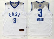 Wholesale Cheap 2015-16 NBA Eastern All-Stars Men's #3 Dwyane Wade Revolution 30 Swingman White Jersey