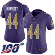 Wholesale Cheap Nike Ravens #44 Marlon Humphrey Purple Women's Stitched NFL Limited Rush 100th Season Jersey