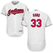 Wholesale Cheap Indians #33 Brad Hand White Flexbase Authentic Collection Stitched MLB Jersey