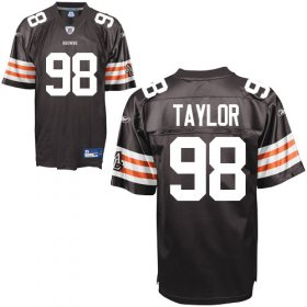 Wholesale Cheap Browns #98 Phil Taylor Brown Stitched NFL Jersey