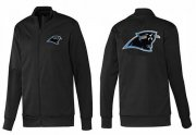 Wholesale Cheap NFL Carolina Panthers Team Logo Jacket Black_1