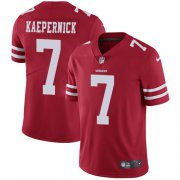 Wholesale Cheap Nike 49ers #7 Colin Kaepernick Red Team Color Men's Stitched NFL Vapor Untouchable Limited Jersey