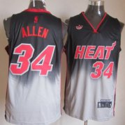 Wholesale Cheap Miami Heat #34 Ray Allen Black/Gray Fadeaway Fashion Jersey