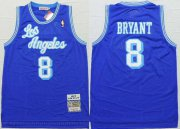 Wholesale Cheap Men's Los Angeles Lakers #8 Kobe Bryant 1996-97 Blue Hardwood Classics Soul Swingman Throwback Jersey