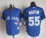 Wholesale Cheap Blue Jays #55 Russell Martin Blue New Cool Base Stitched MLB Jersey