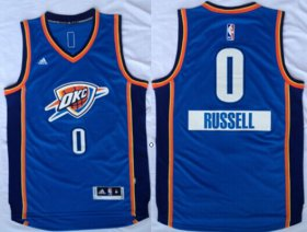 Wholesale Cheap Oklahoma City Thunder #0 Russell Westbrook Revolution 30 Swingman 2014 Christmas Day Blue Jersey