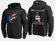 Wholesale Cheap Coyotes #4 Niklas Hjalmarsson NHL Banner Wave Usa Flag Black Hoodie
