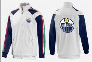 Wholesale NHL Edmonton Oilers Zip Jackets White-2
