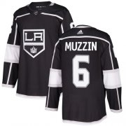 Wholesale Cheap Adidas Kings #6 Jake Muzzin Black Home Authentic Stitched Youth NHL Jersey