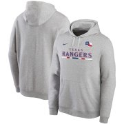 Wholesale Cheap Texas Rangers Nike Color Bar Club Pullover Hoodie Gray