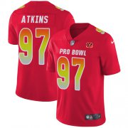 Wholesale Cheap Nike Bengals #97 Geno Atkins Red Men's Stitched NFL Limited AFC 2018 Pro Bowl Jersey