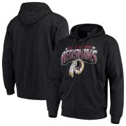 Wholesale Cheap Washington Redskins G-III Sports by Carl Banks Perfect Season Full-Zip Hoodie Charcoal