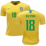 Wholesale Cheap Brazil #18 Rafinha Home Soccer Country Jersey