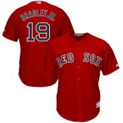 Wholesale Cheap Boston Red Sox #19 Jackie Bradley Jr. Majestic Alternate Official Cool Base Player Jersey Scarlet