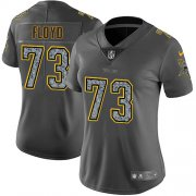 Wholesale Cheap Nike Vikings #73 Sharrif Floyd Gray Static Women's Stitched NFL Vapor Untouchable Limited Jersey