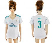 Wholesale Cheap Women's Real Madrid #3 Pepe Home Soccer Club Jersey