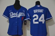 Wholesale Cheap Los Angeles Dodgers #8 #24 Kobe Bryant Youth Nike Royal Cool Base 2020 KB Patch MLB Jersey