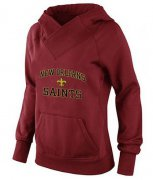 Wholesale Cheap Women's New Orleans Saints Heart & Soul Pullover Hoodie Red